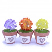 Gifts and Decoration - Cute Mini Artificial Flower ball with Terracotta Pot