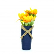Elegant Sunflower Artificial in Blue Vase