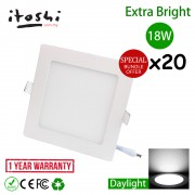 20pcs 8 Inch 18W LED Ceiling Light Living Hall Kitchen Square Daylight