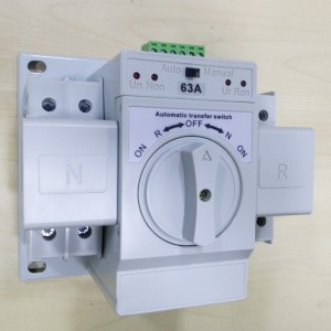 Automatic Transfer Switch Auto Change Over Switches 220V 63A 2 Poles ATS Solar Energy Equipment