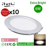 6W 4 Inch LED Lighting Recessed Type Round Natural White 10pcs