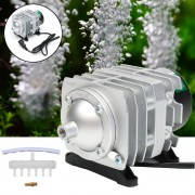 82L 60W Electromagnetic Air Compressor Aquarium Oxygen Pond Air Pump Aerator