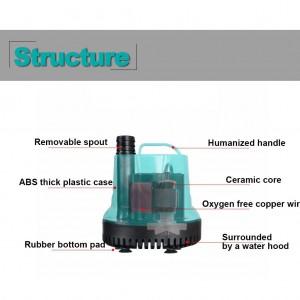 2500L/H Submersible Aquarium Fish Tank Garden Water Pump Quiet