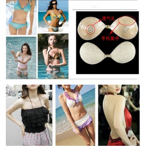 Invisible Lace Bra Push Up Bra Non Slip Adhesive Silicone Wedding Gown Dress
