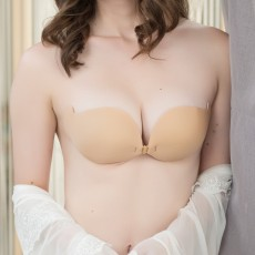 KnD Seamless Breathable NuBra Vbra Push Up Bra LuBra Silicone Invisible Bra Wedding Gown Dress