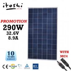 FREE SHIPPING ITOSHI Solar Panel 290W 290 Watt Polycrystalline Papan Solar untuk Kebun Ladang Rumah